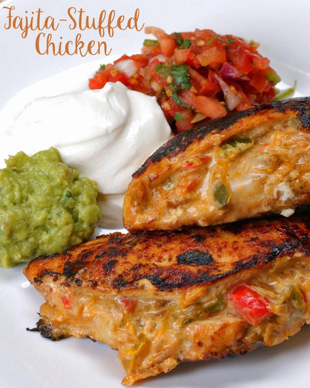 Fajita-Stuffed Chicken – Recipe Hoarder